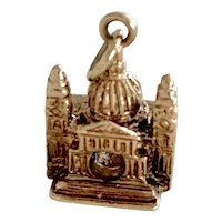 St Peter's Basilica Vintage Charm 9K English Gold Three-Dimensional