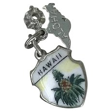 Hawaii Vintage Charms Colorful Glass Enamel Sterling Silver