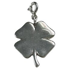 Four Leaf Clover Vintage Lucky Charm Sterling Silver