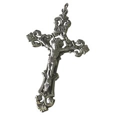 Crucifix Cross Vintage Pendant Sterling Silver