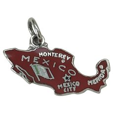 MEXICO Vintage Charm Colorful Enamel Sterling Silver