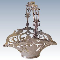 Art Nouveau Sterling Silver Basket Shreve Crump & Lowe