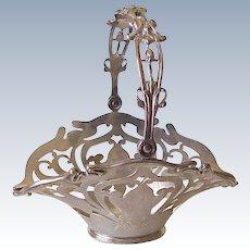 Art Nouveau Sterling Silver Basket Shreve Crump & Lowe