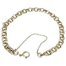 Double Link Bracelet 14K Gold For Charms 6.7 Grams