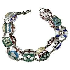 Canada Providences Bracelet Sterling Silver Colorful Enamel