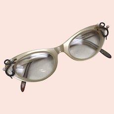 Vintage Christina Dior Cat Eye Prescription Glasses, Austria circa 1950's