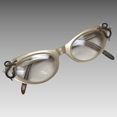Vintage Christina Dior Cat Eye Prescription Glasses, Austria circa 1950's