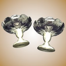 Sterling Silver Footed Bowls / Candle Sticks, Pair