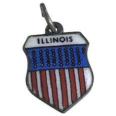 Illinois Vintage Charm 800 Silver Colorful Glass Enamel