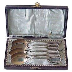Demitasse Spoon Set of 6 in Original Box, G.Kramer 800 Silver German