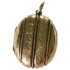 Victorian Era Locket Pendant 14K Gold