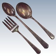 Vintage Infant / Baby Feeding Set by Weidlich, 3 Piece Sterling Silver