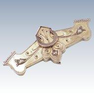 Grand Victorian Era 10K Gold Brooch