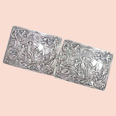 Edwardian / Art Nouveau BUCKLE 800 Silver
