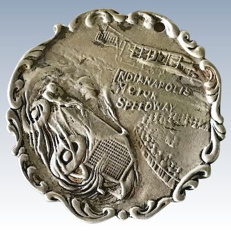 Early Indianapolis Motor Speedway Sterling Silver Medal 1909-10 Tiffany & Co