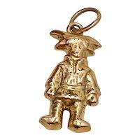 Christopher Columbus Vintage Charm 14K Gold Three-Dimensional