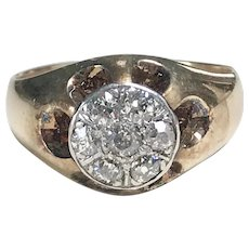 Gents Diamond Top Ring 14K Two-Tone Gold .44 ctw