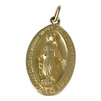 Miraculous / Immaculate Vintage Medal or Charm 14K Gold