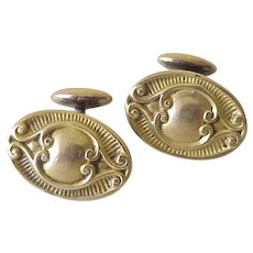 Victorian Rolled Gold Cuff Links
