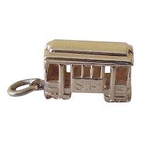Vintage Travel Souvenir Charm Cable Car 14K Gold Three Dimensional