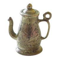 Vintage  Sterling Silver Coffee Pot Charm circa 1960's Three Dimensional