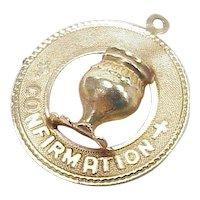 Vintage Confirmation Charm 14k Gold circa 1960's