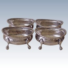 Footed Open Salts or Nut Dishes 900 Silver Missiaglia Venice