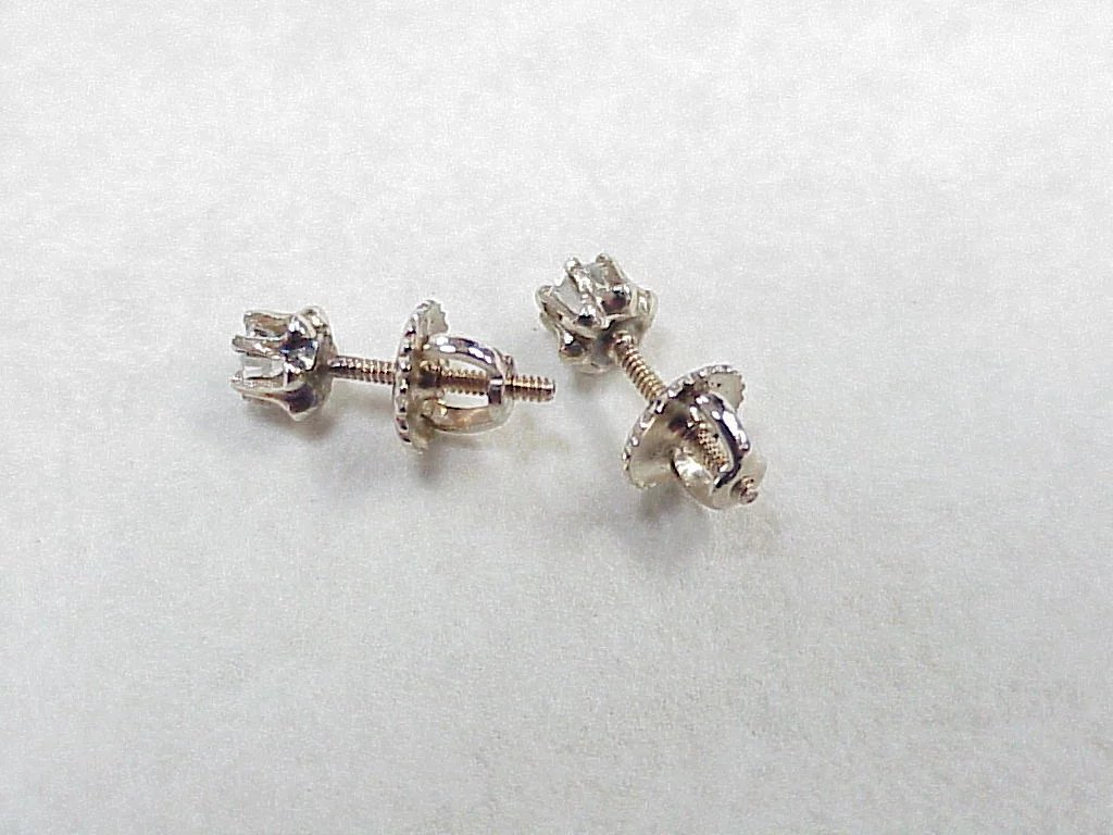 Click To Expand Change Background Clic Vintage Diamond Stud Earrings