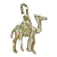 Camel / Dromedary Vintage Charm 14K Gold Three-Dimensional 1980's