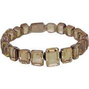 Victorian Citrine Bracelet 10K Gold Twenty Gemstones = 69.67 Carats