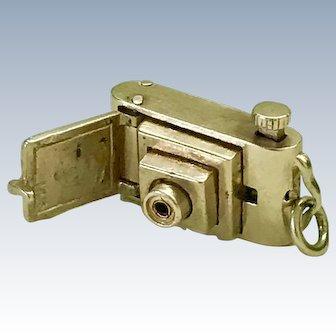 Mechanical Camera Vintage Charm 14K Gold Three-Dimensional circa 1950's