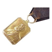 Edwardian Era Presentation 14k Gold FOB W.H Forbes / Forbes Lithograph Co