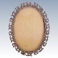 Edwardian Era Sterling Silver Petite Ornate Picture Frame