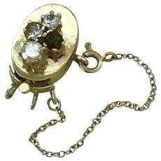 Jeweled Clasp/Slide for Add A Slide Bracelet 14K Gold, Diamond, Morganite, Tourmaline