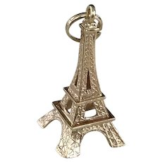 Eiffel Tower Vintage Charm 18K Gold Three-Dimensional