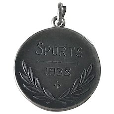 Sports Medal 1938 Sterling Silver by Birks