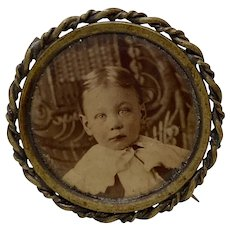 Victorian Young Child Portrait / Photograph Brooch