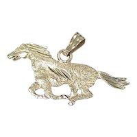 Estate Equestrian Horse Charm / Pendant 14K Gold