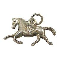 Vintage Sterling Silver Equestrian Charm ~ Horse, Three Dimensional