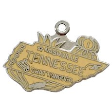 Tennessee US State Vintage Charm Colorful Enamel Sterling Silver