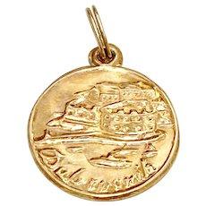 Honduras Vintage Travel Souvenir Charm 18K Gold
