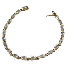 Aquamarine Bracelet 18K Gold 4.40 Carat Total Weight