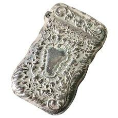 Pairpoint Match Safe / Vesta Silver Plate circa 1900-10