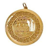 Huge Roman Vintage Charm 14K Gold Travel Souvenir circa 1980's