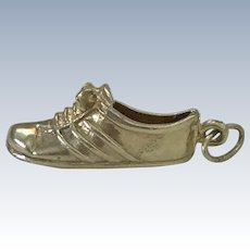 Tennis Shoe Vintage Charm 14K Gold Three-Dimensional