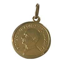 Catholic Pope Paulus VI Pontifex Maximus Medal 18K Gold