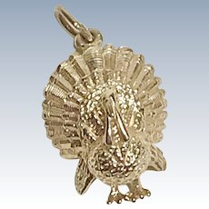 Turkey Vintage Charm 14K Gold Three-Dimensional