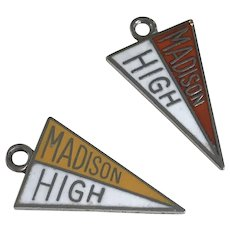 Madison High Vintage Charms Sterling Silver Colorful Enamel