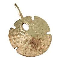 Sand Dollar Vintage Nautical Charm 14K Gold Three-Dimensional