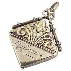 Victorian Locket Pendant or Fob Charm 14K Gold